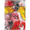 Untitled, 2010, Paint, ink, pastel, graphite pencil and felt pen on paper, 29,5x21cm.