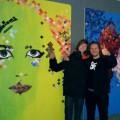 Live schilderen bij IJsbeelden Festival, Hajo Raap en Dennie Boxem