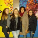 Live schilderen bij IJsbeelden Festival, met Eline en haar dochters & Siti Postma