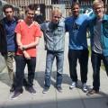 Recording 'Als ik val' , vlnr: Steven Kroon, Danny Snoek, Harm Bla, Rico & Pieter Wattel, 2013-06-11 15.09.56