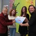 vlnr: Frits Prins, Kim Egberts, Leonie van der Brom, Dennie Boxem